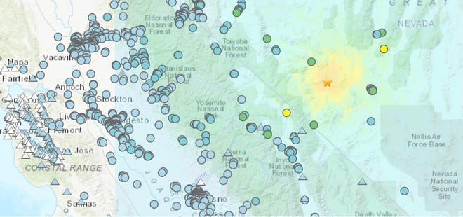 A 6.5magnitude earthquake that struck Nevada was felt in parts of the Valley on Friday, May 15, 2020.