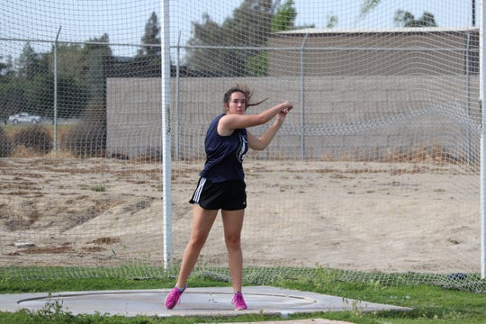 Hannah Farrell is a senior on the Central Valley Christian High School track and field team.