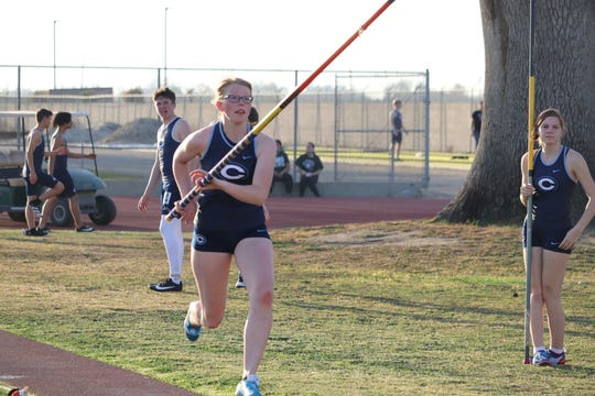 Petra Vander Goot is a senior on the Central Valley Christian High School track and field team.
