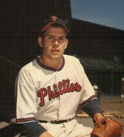 Robin Roberts as a 21-year-old rookie with the Phillies in 1948.