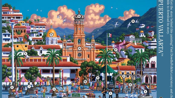 Jet set off to Mexico with this 500-piece puzzle.