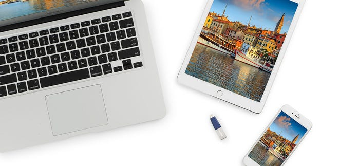 SanDisk: If you lost your iPhone today, what would happen to all those irreplaceable photos and home videos you've captured? This SanDisk solution backs up all your memories onto a USB thumbdrive – via the Lightning connector -- which you can then insert into a PC or Mac for viewing and safe keeping.