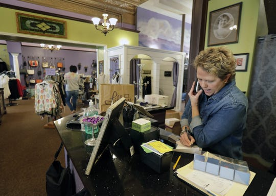 Lillians owner, Kara Manuel  takes orders by phone. The downtown Appleton shop is also open to the public with limits on occupancy.