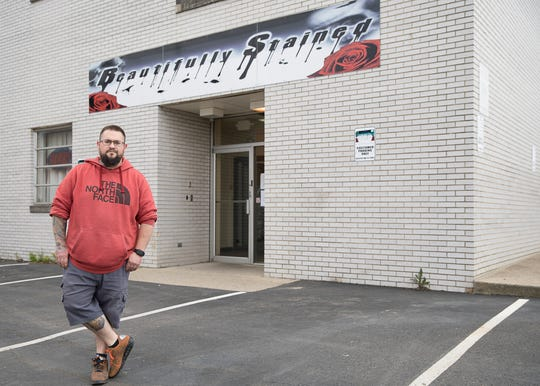 Tank Birchfield of Beautifully Stained tattoo shop already has several appointments lined up as his shop reopens from the coronavirus shutdown.