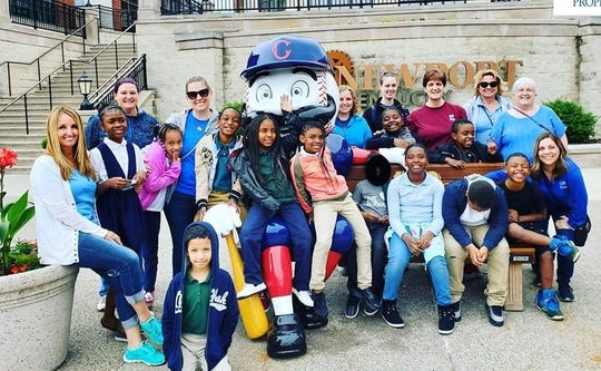 Towne Properties adopt-a-class event at Newport on the Levee