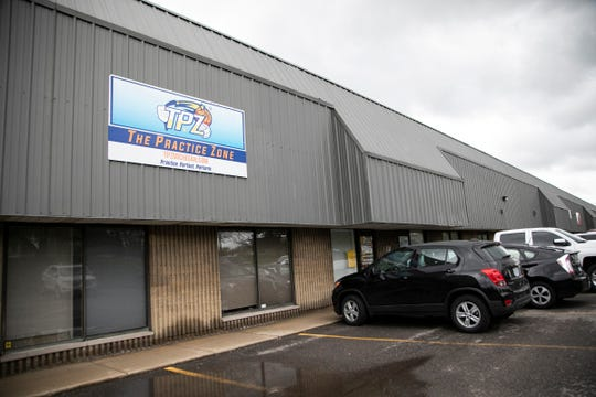 The Practice Zone, a basketball and pickleball facility in Farmington Hills, photographed Friday, May 15, 2020, has been forced to close due to the outbreak of the coronavirus.