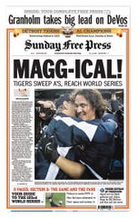 The 1A from Oct. 15, 2006, the day after Magglio Ordonez homered in the ninth innning to send the Tigers to their first World Series since 1984.