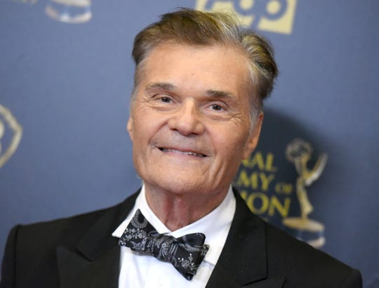 Fred Willard poses in the pressroom April 26. 2015, at the 42nd annual Daytime Emmy Awards at Warner Bros. Studios in Burbank, Calif.