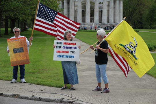 The Harding Memorial on Delaware Avenue was the site of the latest Free Ohio Now rally held in Marion County. Ten local residents participated in the peaceful rally on Saturday afternoon. Organizers said rallies will continue at least through the end of May.
