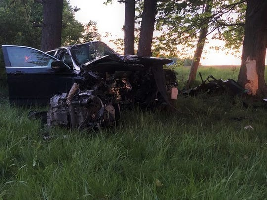 A Muncie man was killed Friday night in a one-vehicle accident along Ind. 38 near the Henry County town of Cadiz.