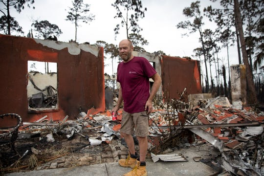 Dan McMahon talks about the night the fire took his home during an interview on Saturday, May 16, 2020, in Golden Gate Estates.
