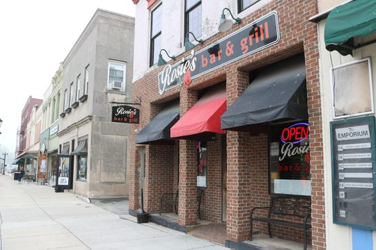 Local restaurants, such as Rosie's Bar & Grill, have already been seeing a positive bump in foot traffic since outside dining has been permitted as of Friday.