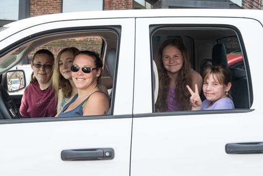 Amy Norman and the rest of her family are very thankful for the Pop-Up Drive-Thru Food Distribution at the John Wright Restaurant Saturday, May 16, 2020.