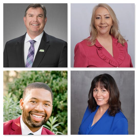 From top left, Paul Anderson, Elvira Diaz, Quentin Smith and Andrea Tavener are running for Sparks City Council Ward 3.