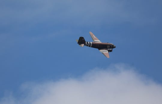 The National Warplane Museum in Geneseo conducted a fly over Saturday, May 16, 2020 over hospitals, veteran affair buildings and other major sites from Buffalo to Syracuse in what they call Operation Thanks From Above.The fly over is to thank first responders, health care and essential workers.  A Douglas C-47 called Whiskey 7, a WWII aircraft that was the lead aircraft in the second wave of the D-Day invasion, flew over Strong Memorial Hospital a few times before heading off.  In addition to Strong Memorial Hospital it was scheduled to fly over Rochester General Hospital, Unity, Highland, Monroe Community Hospital and the Veteran Affairs Outpatient Clinic in Henrietta.  The plane banks to the right heading back towards the hospital.