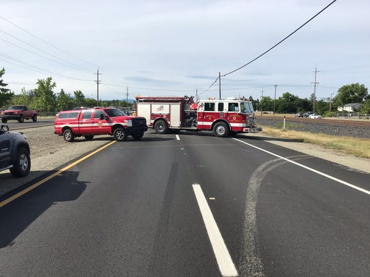 "Highway 273 northbound was closed at Girvan Road following a ""major accident,"" Redding police announced on Friday, May 15, 2020."