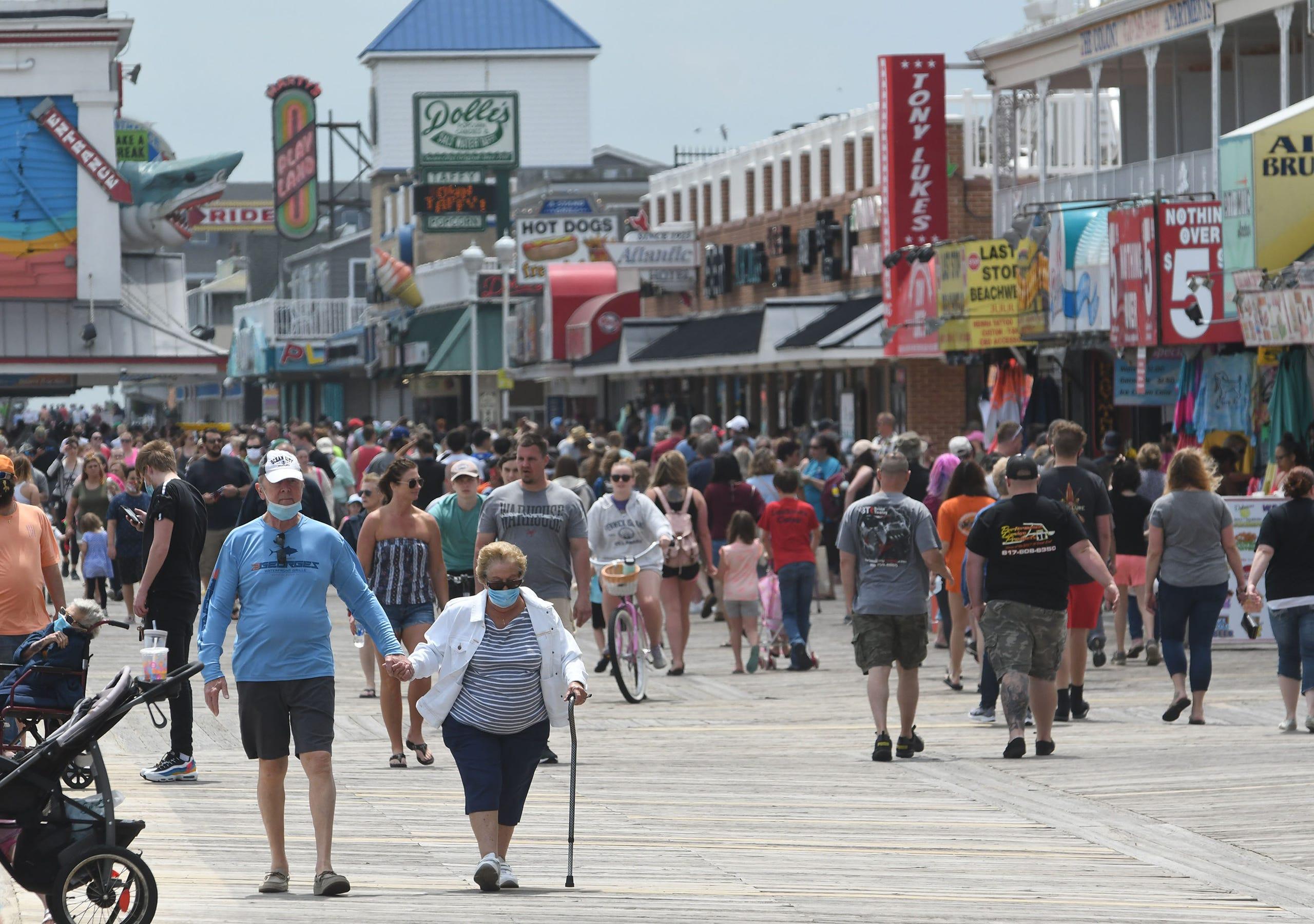 Coronavirus: Ocean City boardwalk sees packed crowds as beach reopens