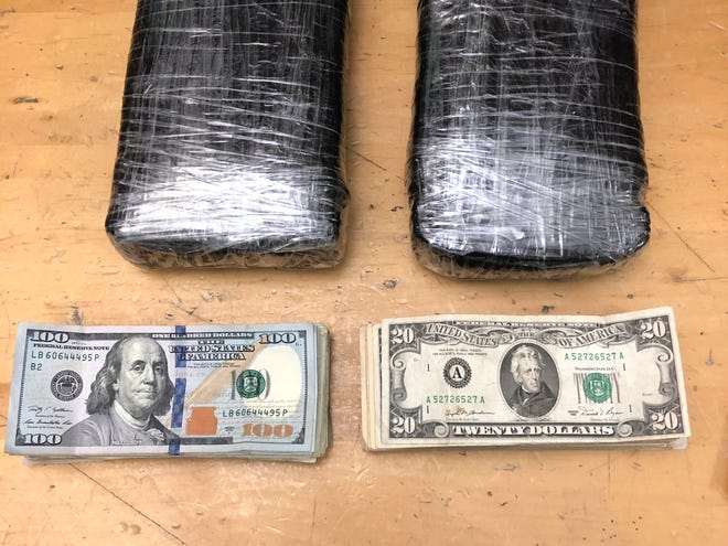 Heroin and cash seized by deputies in Moorpark.