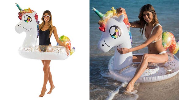 This adorable pool float is on sale thanks to this Bed, Bath and Beyond sale.