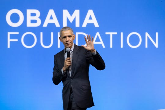 """""""With so much uncertainty, with everything suddenly up for grabs, this is your generation's world to shape,"""" former President Barack Obama told high school graduates in a televised special Saturday."""