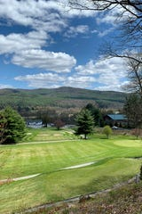 The view from above the sixth tee at John P. Larkin Country Club in Windsor on May 12, 2020.