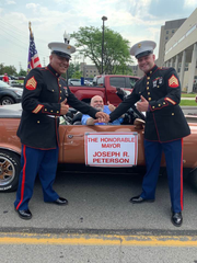 Wyandotte Mayor Joe Peterson at the Fourth of July parade in 2019.