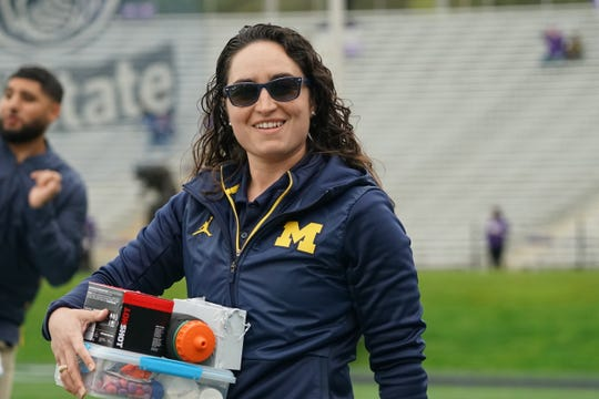 Abigail O'Connor is the Michigan football team's performance dietitian.