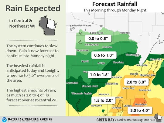 Heavy rain and flooding is expected through Monday night.