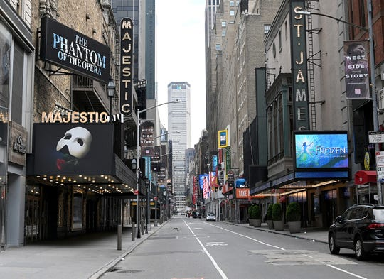 Broadway shut down March 12 because of the coronavirus pandemic.