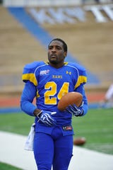 """Alvin """"Stick"""" Johnson was a four-year starting defensive back for the Angelo State University football team from 2009 to 2012."""