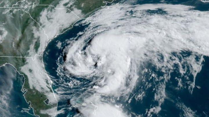Satellite image of Tropical Storm Arthur on Sunday, May 17