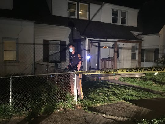 New Castle County Police investigate a shooting on 4th Avenue in Claymont Saturday night. A 54-year-old man was hospitalized after being shot in the upper torso.