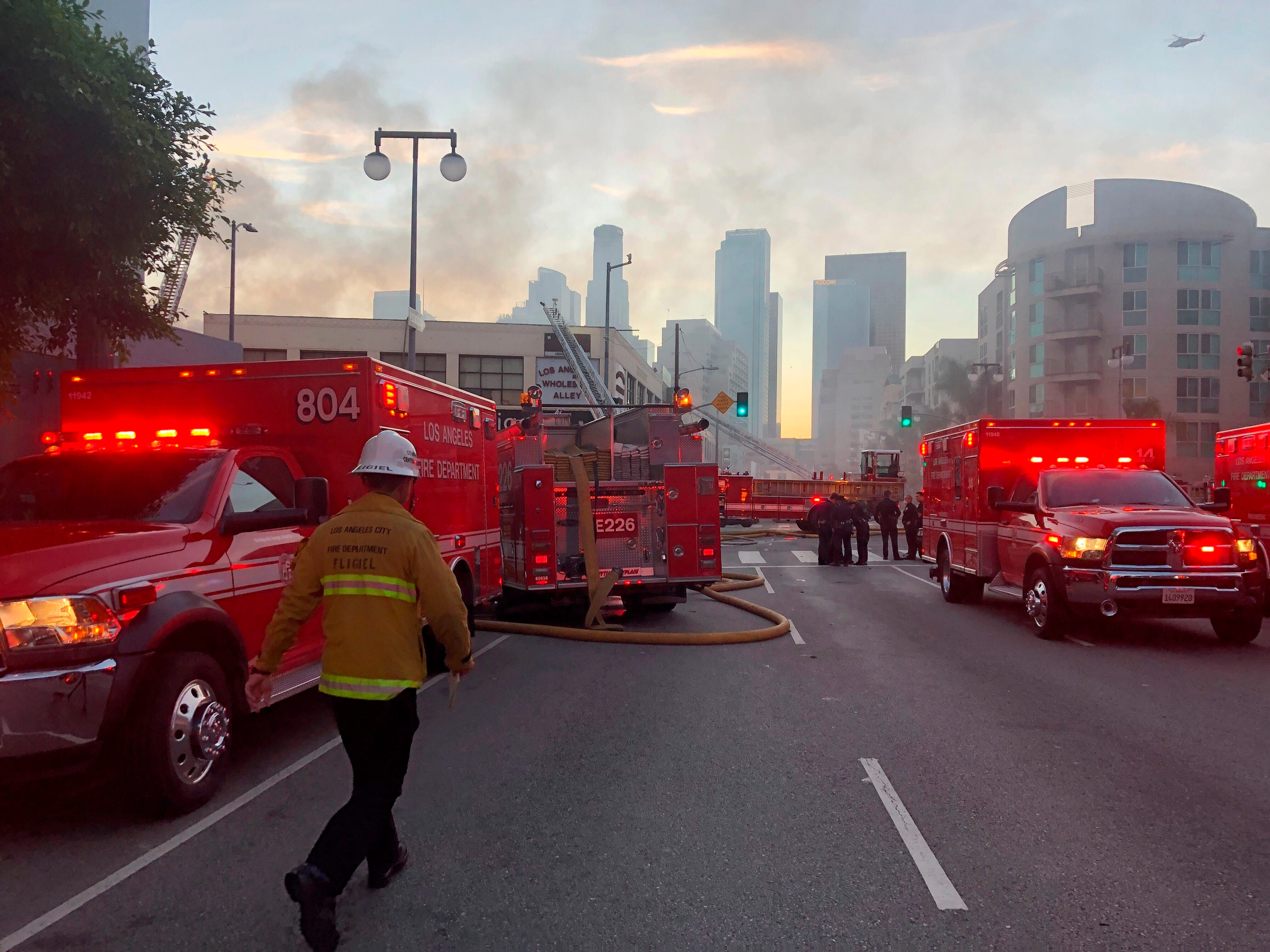 Fire, explosion in downtown Los Angeles injures at least 10 firefighters