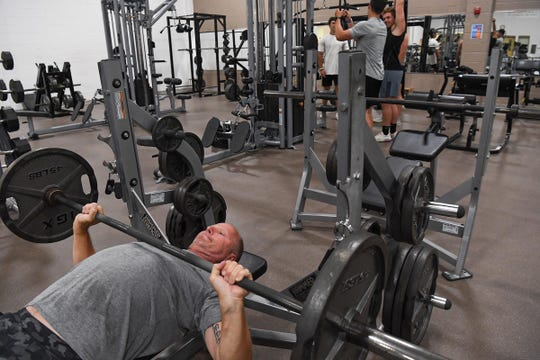 Matt  Gilstrap of Anderson works out at the Anderson Area YCMA on Monday, May 18, 2020.