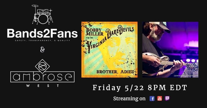 Promotional image for the May 22 Bands2Fans livestream.