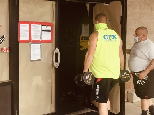 Atilis Gym in Bellmawr opened in defiance of the state's COVID-19 emergency regulations, drawing patrons, protesters and police on Monday, May 18, 2020.