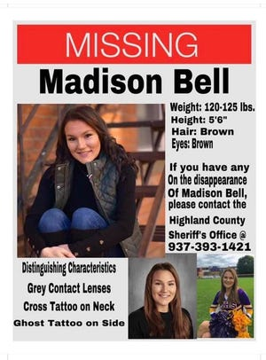 Madison Bell missing poster
