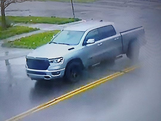 Police on Monday released surveillance images of the Dodge Ram the suspect was driving.
