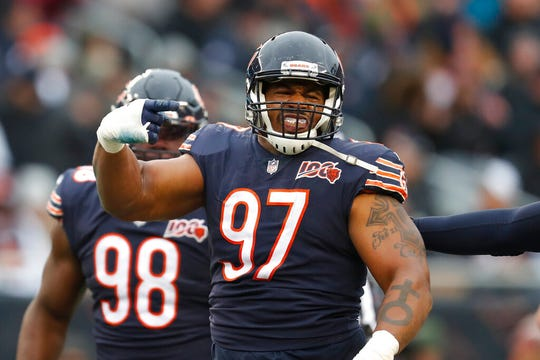 Defensive tackle Nick Williams (97) signed a two-year, $10 million deal with the Lions this offseason.