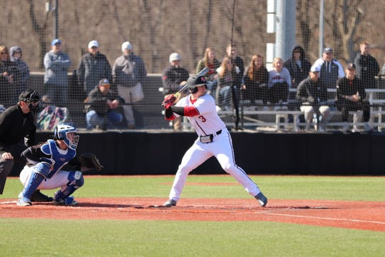 Davenport's Jacob Buchberger was the reining GLIAC player of the year.