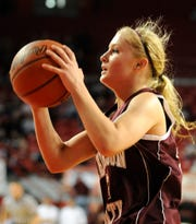 Henderson County's Ellie Fruit, looks to pass during the 2010 Sweet 16 in Bowling Green.