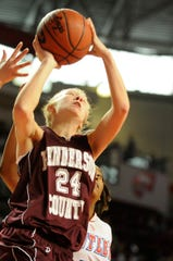Henderson County's Sara Garrett takes it to the hoop during the 2010 Sweet 16 in Bowling Green.