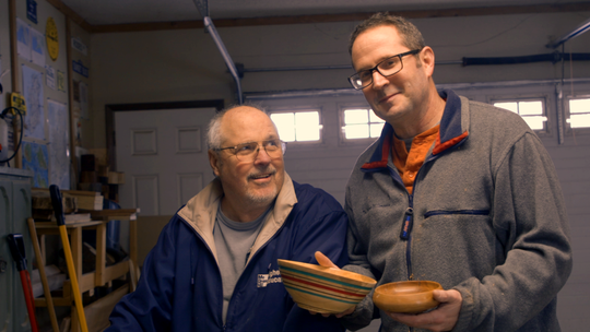 "Three generations of the Walsh family come together to make a wooden bowl in Landon Walsh's mini-doc ""Hardwood Bowls with a Robust Lathe."""
