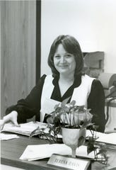 """Teresa Parker, author of """"Marion Technical College: The First 50 Years"""" in 1977 early in her career at the college."""