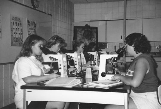 Photos of Marion Technical College students in the 1970s.