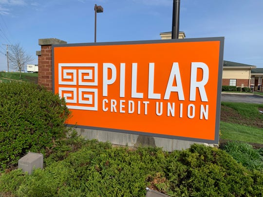 Marion Community Credit Union has completed a re-branding project and is now known as Pillar Credit Union. The new logo and color scheme is shown on the sign outside the 300 Barks Road E. branch of the credit union.