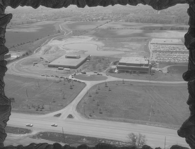 Early Aerial View of the Marion Technical College/Ohio State University Marion campus.