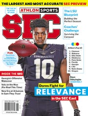 Vanderbilt defensive end Dayo Odeyingbo is featured on of the Athlon Sports SEC Preview magazine covers.