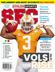 Tennessee running back Eric Gray is featured on one of the Athlon Sports SEC preview magazine.