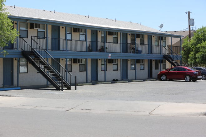 An apartment building on Hagerty Road, Monday May 18, 2020, where police say a 26-year-old Las Cruces man was murdered this past weekend.